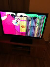 "Sharp 42"" 1080p full HD Surround sound built in, DAMAGED"