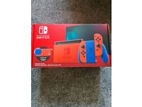 Nintendo Switch 32GB Rare Mario Red & Blue Edition like New Boxed