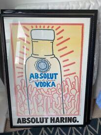 Vintage Absolute Haring Framed Poster