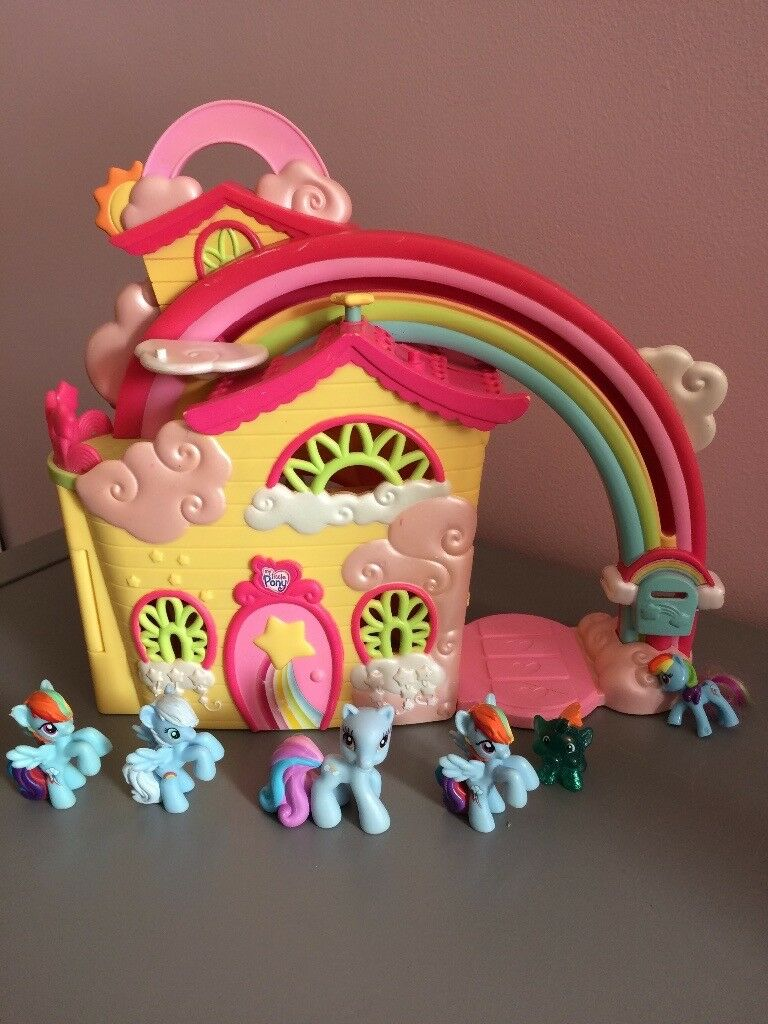 My Little Pony Ponyville Vintage Rainbow Dash House In Chorley