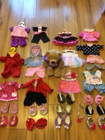 Teddy bear and outfits