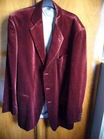 Gents New Bugandy M&S Velvet Jacket Size 42L