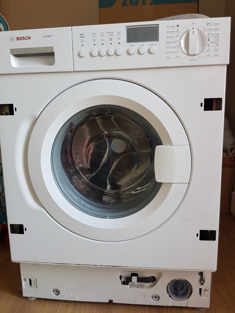 bosch logixx 7 intergrated washing machine award winning appliance 7kg 1400 spin in swindon