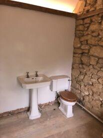 Trent Bathrooms Waverley Victorian Style Pedestal Basin & Toilet