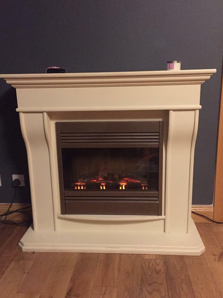 Cream Electric Fire
