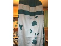 Green and Cream curtains x 2 Pairs and 2 Pairs in Blue