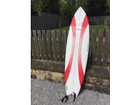 Southern swell surfboard + 7ft bag + surfboard sock