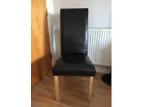 2 Leather Dining Chairs *Very Good Condition*