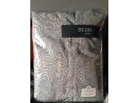 BEDECK ALTANA DENIM /GREY CURTAINS 66x 72