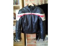 Dainese HF special retro leather bike jacket Eur 46 uk 12/14 vgc £280 new
