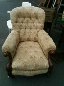 Antique floral arm chair