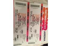 Jess Glynne Tickets x 2, Metro Arena