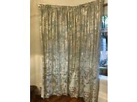 Set of heavy lounge curtains, extra long, extra wide for bay window