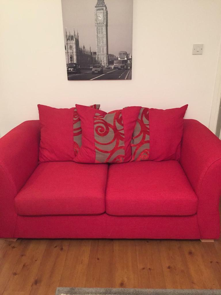 2 seater red sofa bed | in Carrickfergus, County Antrim | Gumtree
