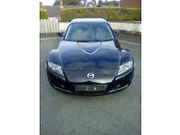 2006 - Mazda - RX8 - 231PS - 6 speed manual - Black - sunroof - leather interior - rebuilt engine