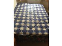 FREE DOUBLE BED BASE AND MATRESSES X3