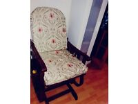 Chair / Antique Semi Folding Rocking / Sewing Chair