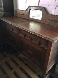 Old vintage Art Deco dressing table