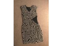 Whistles silk animal print dress - UK 10