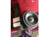 Bass face spl 12.2 sub woofer and Jl audio jx500 amp