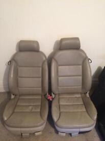 audi a3 cream leather seats 2002 3 door