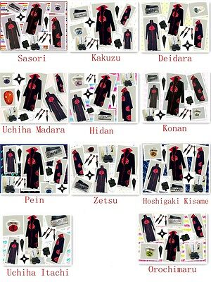 Naruto Akatsuki Cosplay Costume Hidan Uchiha Itachi Madara New whole - Madara Uchiha Akatsuki Kostüm