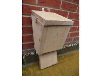 Handmade Solid Oak Bat Box with Hinged Lid