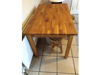 Kitchen Dining Solid Oak Table for sale £150.00