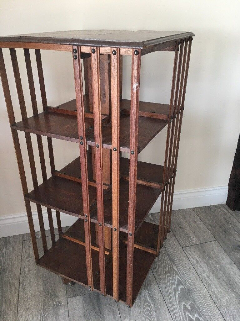 Solid Oak Antique Rotating Bookcase 1800 S In Retford Nottinghamshire Gumtree
