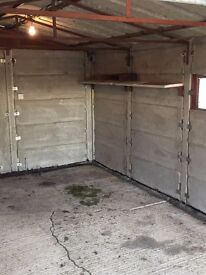 """Apex concrete sectional garage 11' x 20'6"""" needs taking down and removing from site"""