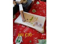 White wii and wii fit