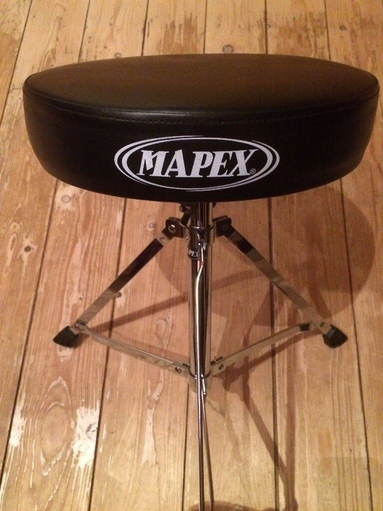 Mapex T250 Folding Drum Throne/Stool - Height-Adjustable - Excellent Condition - £19