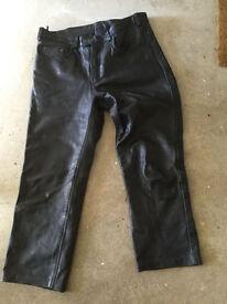 "Acebike acesport 36"" R leather trousers 36 inch bike motorbike free post"