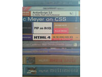 Various Web and Multimedia Programming Books - £1 each