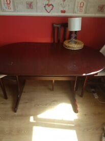 Mahohony dining table and chairs