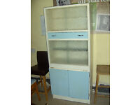 1960's kitchen unit/cabinet and two matching chairs ref 11/3