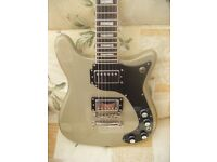 EPIPHONE WILSHIRE PRO TV SILVER-EPIPHONE HARD CASE-POSTAGE AND OFFERS MAY BE POSSIBLE