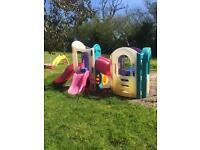 Little tikes 8 in 1 plastic climbing frame outdoor garden toy