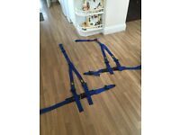 Two OMP 3 point harnesses - blue