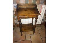 Telephone corner table antique pine