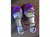 New size 4 purple kitten heels