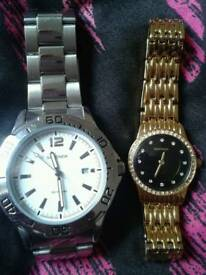 Man and woman watches