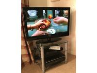 "Samsung 37"" HD LCD TV and stand"