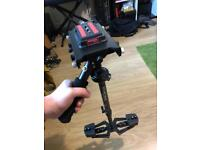 Flycam steadycam with carry case (for DSLR or similar camera)