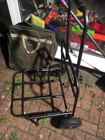 Fishing box carry cart as new