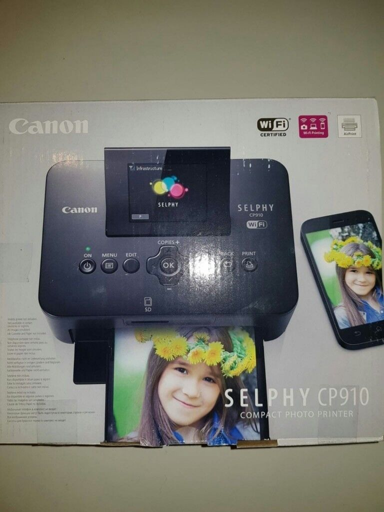 New Canon Selphy Cp910 Compact Photo Printer Rrp 12999 In