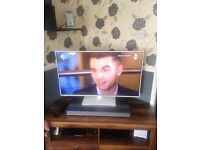 White Panasonic 42 inch smart tv with built in wifi