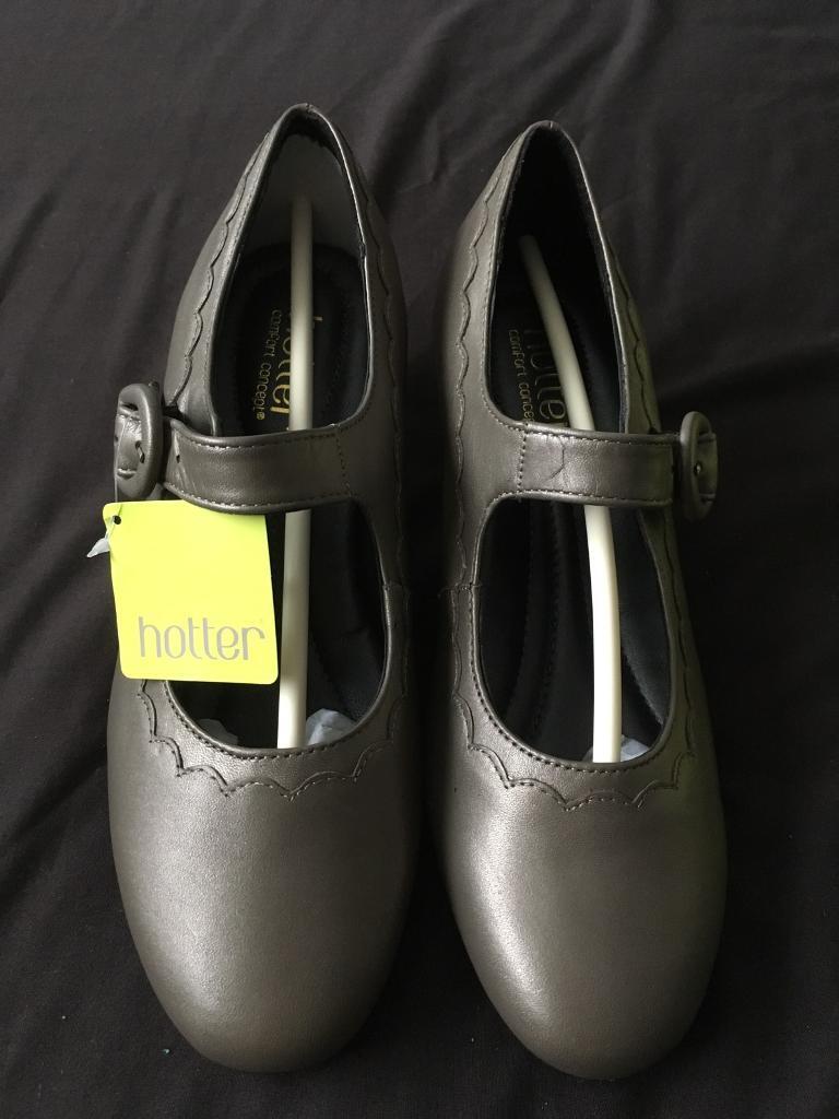 "Hotter ""Brigitte"" heeled metallic gold sandals"