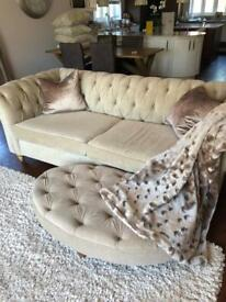 Next gosford chesterfield sofa large