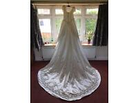Extravagant Morilee Wedding Dress with 9ft train